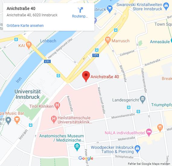 Rechtsanwalt Dr. Armin Zelinka in Innsbruck-Google Maps-Desktop
